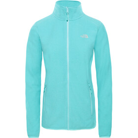 The North Face 100 Glacier Chaqueta con cremallera completa Mujer, mint blue stripe